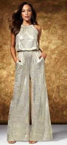 Gorgeous New York and Company Metallic Jumpsuit